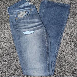 Mudd Stretch Straight-leg Jeans Distressed size 5